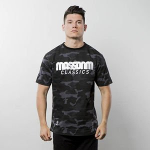 Mass Denim T-shirt Classics black camo