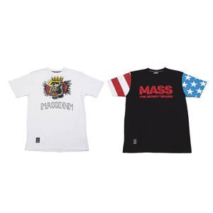 Mass Denim T-shirt Conor & Floyd white / black