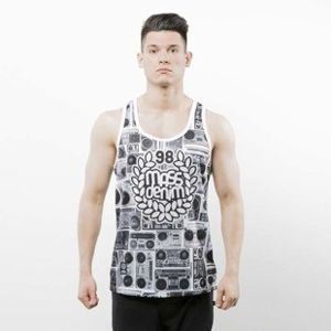 Mass Denim Tank Top Ghettoblaster white SS 2017