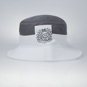 Mass Denim bucket hat Pocket Base grey / white