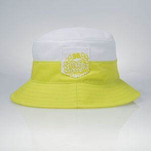 Mass Denim bucket hat Pocket Base white / toxic green