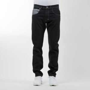 Mass Denim jeans pants Base Cut straight fit rinse black