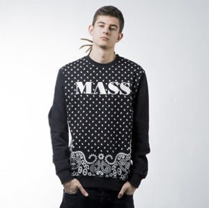 Mass Denim sweatshirt  Bandana crewneck black BLAKK