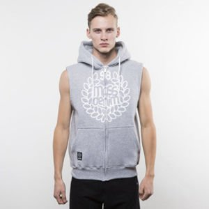 Mass Denim sweatshirt Base Zip Sleeveless Hoody light heather grey