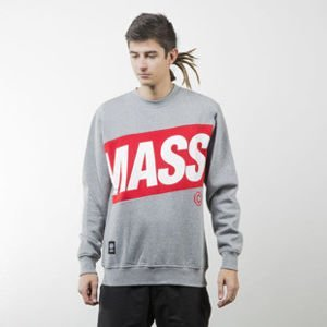 Mass Denim sweatshirt Big Box crewneck light heather grey