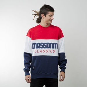Mass Denim sweatshirt Classic Cut crewneck navy / red