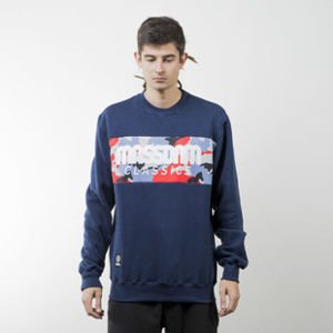 Mass Denim sweatshirt Classics Camo crewneck navy