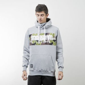 Mass Denim sweatshirt Classics Camo hoody light heather grey