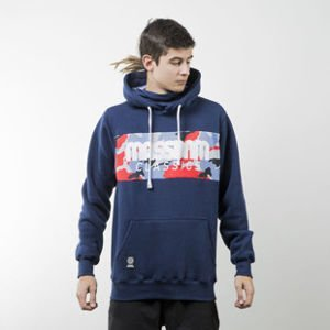 Mass Denim sweatshirt Classics Camo hoody navy