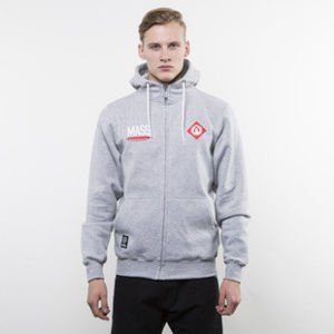 Mass Denim sweatshirt Crest Zip Hoody light heather grey