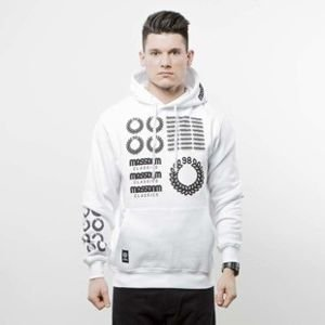 Mass Denim sweatshirt Display Hoody white