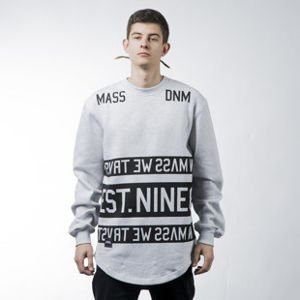 Mass Denim sweatshirt Dyme crewneck long fit extra light heather grey BLAKK