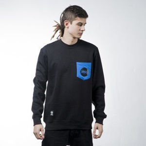 Mass Denim sweatshirt Pocket Signature crewneck black