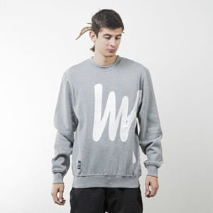 Mass Denim sweatshirt Signature Big crewneck light heather grey