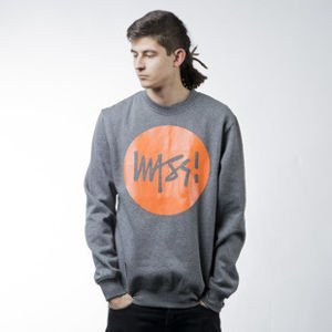 Mass Denim sweatshirt Signature crewneck dark heather grey