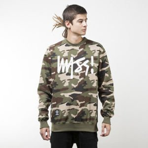 Mass Denim sweatshirt Signature crewneck woodland camo