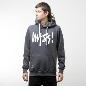 Mass Denim sweatshirt Signature hoody dark heather grey
