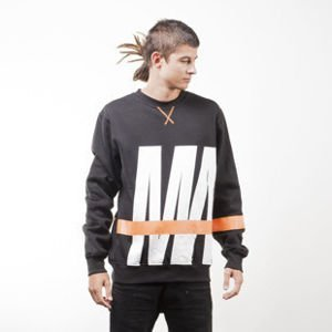 Mass Denim sweatshirt Split crewneck black