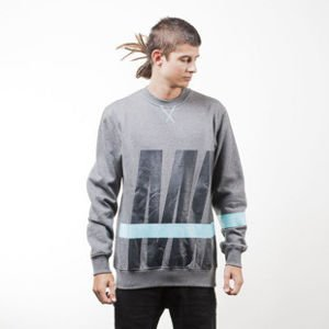 Mass Denim sweatshirt Split crewneck dark heather grey
