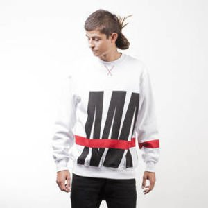 Mass Denim sweatshirt Split crewneck white