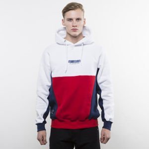 Mass Denim sweatshirt Sprint Hoody white / red