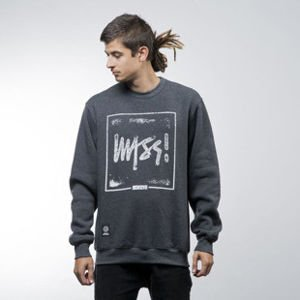 Mass Denim sweatshirt Stamp crewneck dark heather grey