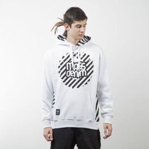 Mass Denim sweatshirt Stripes Logo hoody white