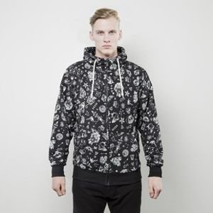 Mass Denim sweatshirt Tattoo Zip Hoody black