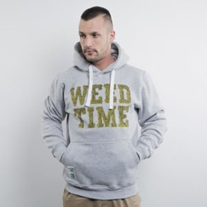Mass Denim sweatshirt hoody Weed Time light heather grey