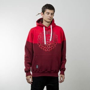 Mass Denim sweatshirts Base Cut hoody red / claret