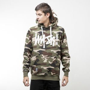 Mass Denim sweatshirts Signature Hoody woodland camo
