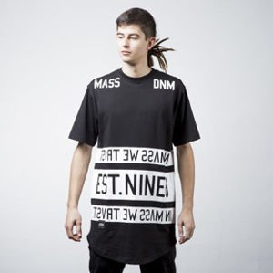 Mass Denim t-shirt Dyme long fit black BLAKK