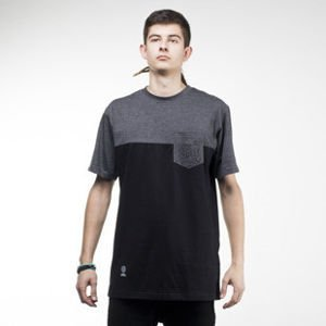 Mass Denim t-shirt Pocket Base black / dark heather grey