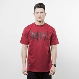 Mass Denim t-shirt Signature Handmade claret SS 2017