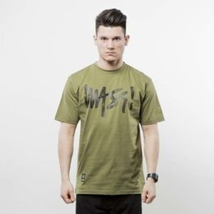 Mass Denim t-shirt Signature Handmade khaki SS 2017