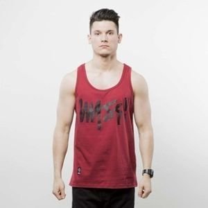Mass Denim tank top Signature Handmade claret SS 2017