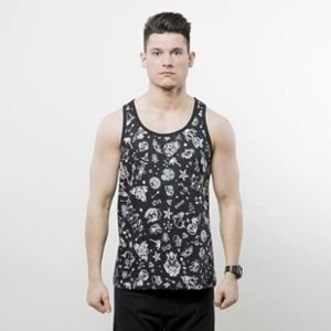 Mass Denim tank top Tattoo black SS 2017
