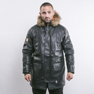 Mass Denim winter jacket Combat Leather black