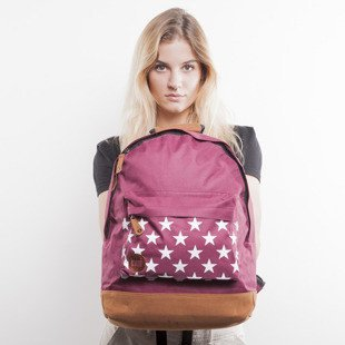 Mi-Pac backpack Stars burgundy