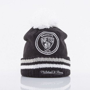 Mitchell & Ness beanie Brooklyn Nets black Big Man Hi Five KS01Z