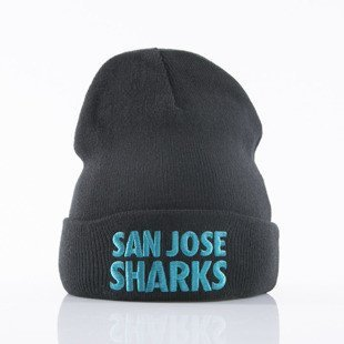 Mitchell & Ness beanie San Jose Sharks black Headline EU253