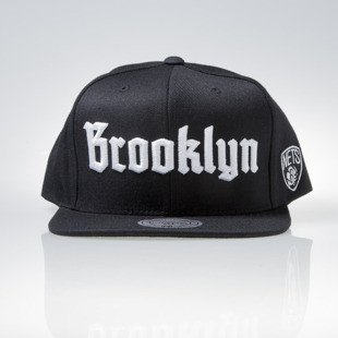 Mitchell & Ness cap snapback Brooklyn Nets black GOTHAM CITY VW49Z