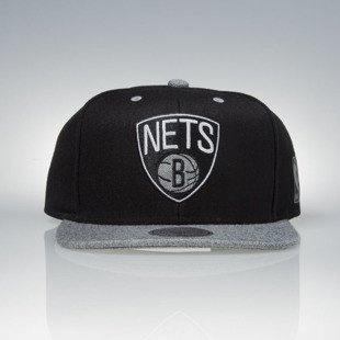 Mitchell & Ness cap snapback Brooklyn Nets black / grey Greytist EU938