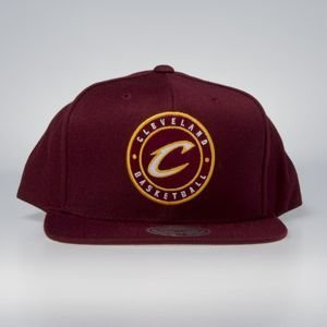 Mitchell & Ness cap snapback Cleveland Cavaliers burgundy Twill Circle Patch