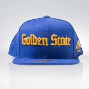 Mitchell & Ness cap snapback Golden State Warriors blue GOTHAM CITY VW49Z