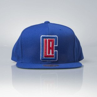 Mitchell & Ness cap snapback Los Angeles Clippers blue Wool Solid / Solid 2 NT78Z