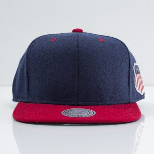 Mitchell & Ness cap snapback M&N navy / red Retro Melton Wool VF58Z