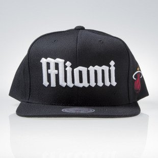 Mitchell & Ness cap snapback Miami Heat black GOTHAM CITY VW49Z