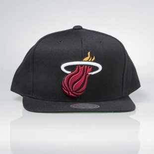 Mitchell & Ness cap snapback Miami Heat black Wool Solid / Solid 2 NL99Z
