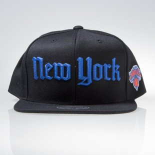 Mitchell & Ness cap snapback New York Knicks black GOTHAM CITY VW49Z